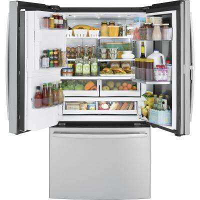 Profile 27.8 cu. ft. French Door Refrigerator with Door-in-Door in Stainless Steel