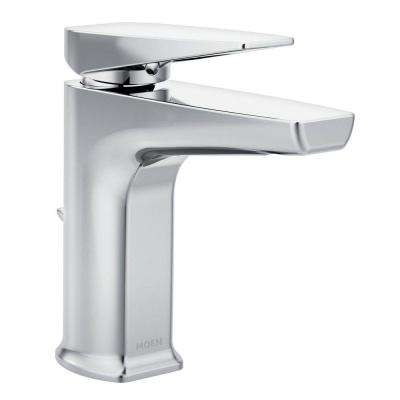 Via Single Hole 1-Handle Bathroom Faucet in Chrome