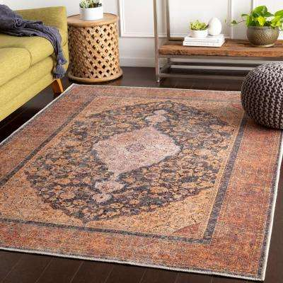 Gilda Clay 7 ft. 10 in. x 10 ft. 3 in. Oriental Area Rug