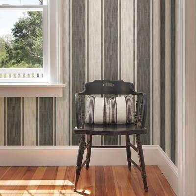 Ryoan Grey Stripes Wallpaper