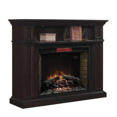 Bollaris 55 in. Wall Mantel Electric Fireplace in Espresso