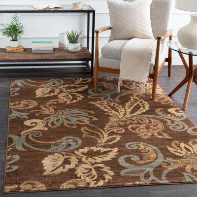 Cerastium Burgundy 3 ft. x 8 ft. Indoor Runner Rug