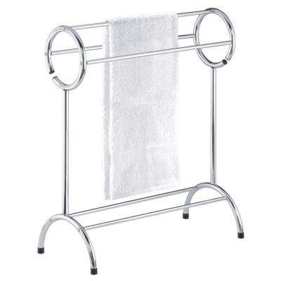 Circle Top Towel Valet in Chrome-DISCONTINUED
