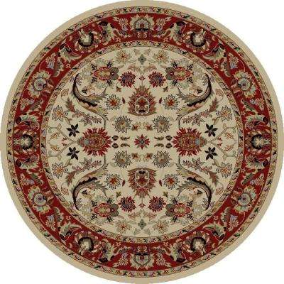 Ankara Sultanabad Ivory 5 ft. 3 in. Round Area Rug