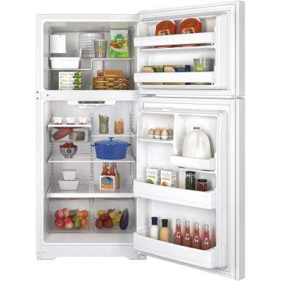 18.2 cu. ft. Top Freezer Refrigerator in White with Icemaker