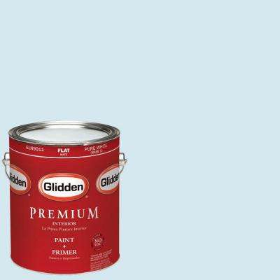 1-gal. #HDGB48U Blue Ice Age Flat Latex Interior Paint with Primer