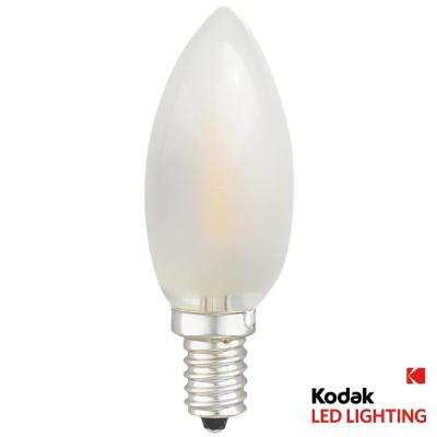 40W Equivalent Warm White E12 Torpedo Frosted Dimmable LED Light Bulb