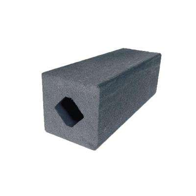 Vantage 4-1/4 in. x 4-1/4 in. x 51 in. Cape Cod Gray Solid Composite Square Post with Center Chase
