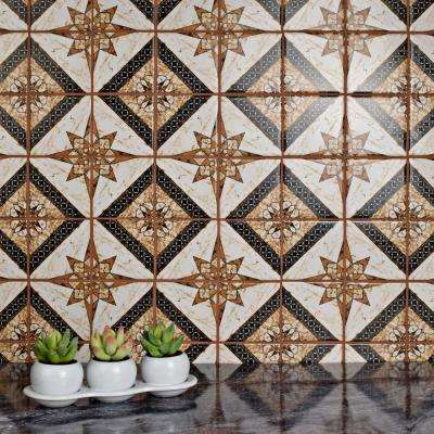 Affinity Augustine Marron 11-3/4 in. x 11-3/4 in. x 6 mm Porcelain Mosaic Tile