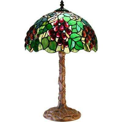 18 in. Grape Multicolored Table Lamp