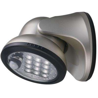 Silver 12-LED Wireless Motion-Activated Weatherproof Porch Light