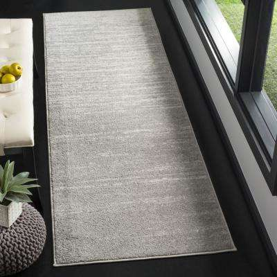 Adirondack Light Gray/Gray 2 ft. 6 in. x 10 ft. Runner Rug
