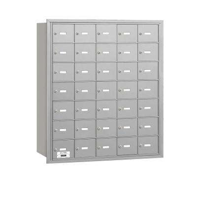 Aluminum USPS Access Rear Loading 4B Plus Horizontal Mailbox with 35A Doors