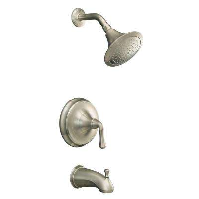 Forte 1-Handle Tub and Shower Faucet Trim Only in Vibrant Brushed Nickel