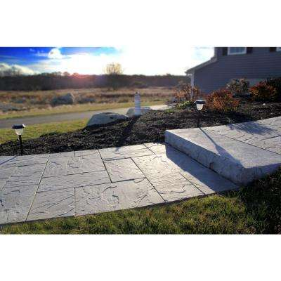 Patio-on-a-Pallet 18 in. x 18 in. Concrete Gray Traditional Yorkstone Paver (Pallet of 32-Pieces)