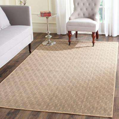 Palm Beach Natural/Black 8 ft. x 11 ft. Area Rug