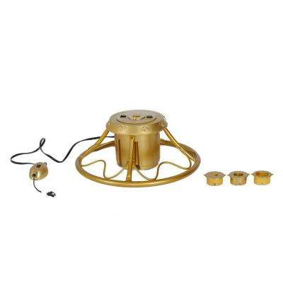 Golden Rotating Artificial Tree Stand