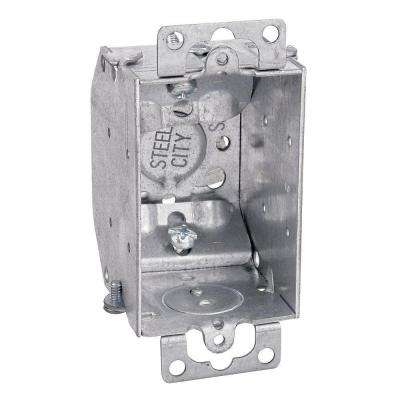 3 in. 10.5 cu. in. Steel Electrical Switch Box with NMSC Clamps (Case of 25)