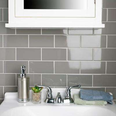 Park Slope Subway Warm Grey 3 in. x 6 in. Ceramic Wall Tile (36 cases / 690.48 sq. ft. / pallet)