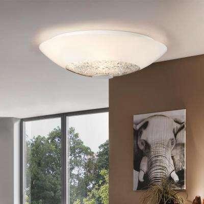 Ellera 2-Light Chrome Ceiling Light