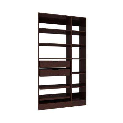 45 in. W x 15 in. D x 84 in. H Wood Pantry Organizer with Roll-out Trays in Mocha