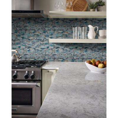 Night Sky Interlocking 11.81 in. x 11.81 in. x 8mm Glass Mesh-Mounted Mosaic Tile (0.97 sq. ft.)