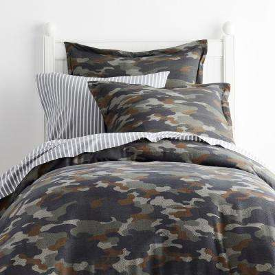 Camouflage Jersey Knit Duvet Cover