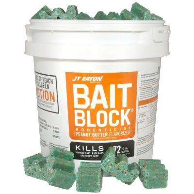 Bait Block Peanut Butter Flavor Anticoagulant Rodenticide for Mice and Rats (72-Pack)