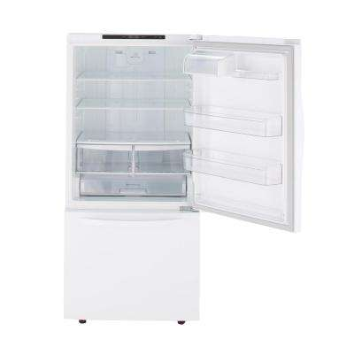 24 cu. ft. Bottom Freezer Refrigerator in Smooth White