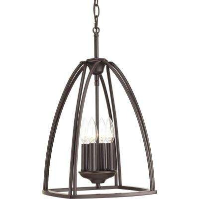 Tally Collection 4-Light Antique Bronze Foyer Pendant