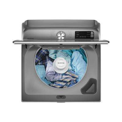 4.7 cu. ft. Smart Capable Metallic Slate Top Load Washing Machine with Extra Power Button and Deep Fill Option