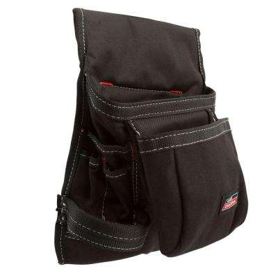 9.75 in. 8-Pocket Tool Pouch, Black