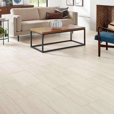 QuicTile 12 in. x 24 in. Cliff Stone Matte Color Body Porcelain Locking Floor Tile (9.6 sq. ft. / case)