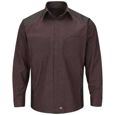 Men's Contrast Long Sleeve Color Block Shirt