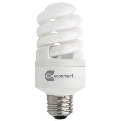 60W Equivalent Soft White  Twister CFL Light Bulb (4-Pack)