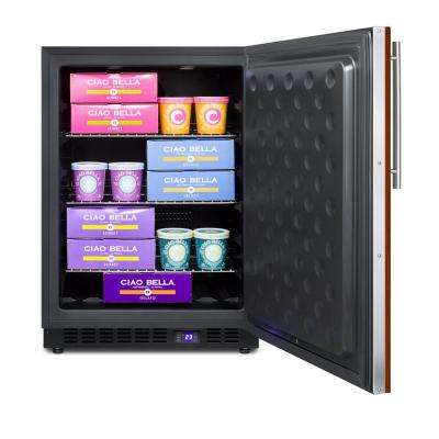 4.7 cu. ft. Frost Free Upright Freezer With Panel-Ready Door In Black