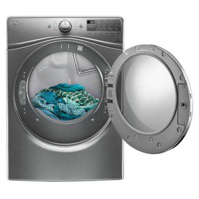 7.4 cu. ft. 120 Volt Stackable Chrome Shadow Gas Vented Dryer with Advanced Moisture Sensing and EcoBoost