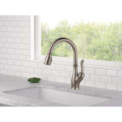 Leland Single-Handle Pull-Down Sprayer Kitchen Faucet with ShieldSpray in Stainless