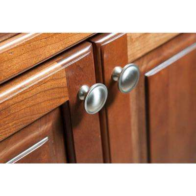 Contempo 1-1/2 in. (38mm) Satin Nickel Round Cabinet Knob (10-Pack)