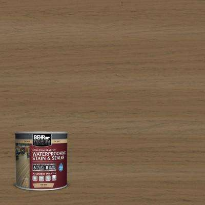 8 oz. #ST147 Castle Gray Semi-Transparent Waterproofing Stain and Sealer Sample