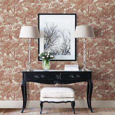 Blyth Red Toile Wallpaper Sample