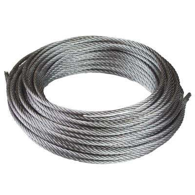 1/8 in. x 50 ft. Galvanized Uncoated Metal Wire Rope