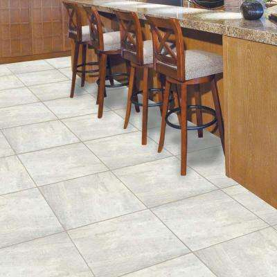 Light Grey 18 in. x 18 in. Slate Peel and Stick Vinyl Tile Flooring (27 sq. ft. / case)