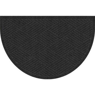 WaterGuard Diamonds Charcoal 24 in. x 39 in. Polypropylene Mat