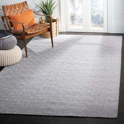 Oasis Dark Gray/Ivory 8 ft. x 10 ft. Area Rug