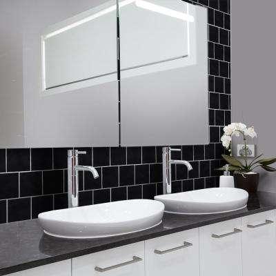 Black Beard 4-1/4 in. x 4-1/4 in. Glossy Ceramic Wall Tile (13.04 sq. ft. / case)
