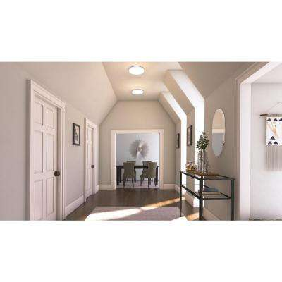 24-Watt Matte White Integrated LED Round Low-Profile Flush Mount