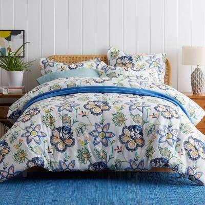 Lofthome Jamison Floral Cotton Percale Comforter