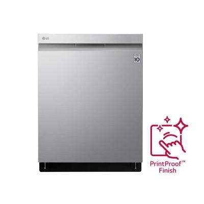 24 in. Top Control Build-in Smart Dishwasher in PrintProof Stainless Steel with QuadWash and Wi-Fi Enabled, 44 dBA
