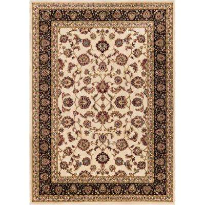 Barclay Sarouk Ivory 5 ft. 3 in. x 7 ft. 3 in. Traditional Floral Area Rug